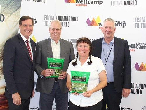 The Hon Dr Anthony Lynham, Geoff and Ann Story from Storey Fresh and Denis Wagner, Director Wagner Corporation